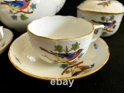 HEREND PORCELAIN HANDPAINTED ANTIQUE TEA SET FOR 2 PERSONS FROM 1930' (9pcs.)