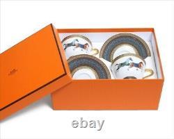 HERMES Porcelain Tea Cup Saucer 2 set Cheval d'Orient Horse Tableware F/S JP