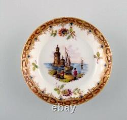 Helene Wolfsohn for Dresden. Tête-à-tête tea set in hand-painted porcelain