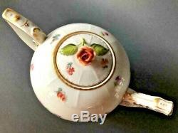 Herend PorcelainHP BASKET WEAVE 3 PC. TEA SET-TEA POT, SUGAR JAR, CREAMERGreat