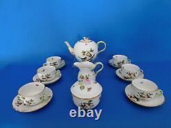 Herend Rothschild Tea set for 6 person porcelain