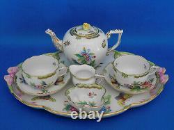 Herend Viktoria pattern Tea set for two person porcelain VBO