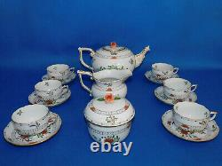 Herend Waldstein Tea set for 6 person with standing pot porcelain