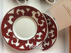 Hermes Balcon du Guadalquivir Tea Cup & Saucer Set Of 2