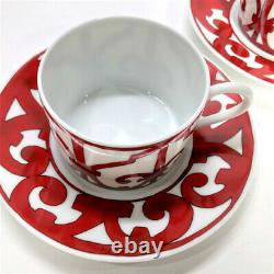 Hermes Guadalquivir Red Tea Cup Saucer Tableware set Ornament Coffee New Unused
