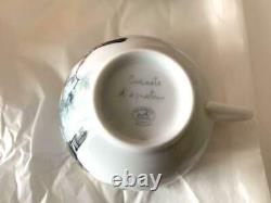 Hermes Porcelain Carnets d'Equateur Tea Cup Saucer Tableware 2 set Animal New