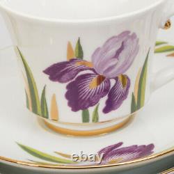 Irises 20 pc Tea Set Imperial Porcelain Lomonosov LFZ Fine Russian China