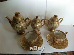 Japanese Kutani porcelain teaset Signed circa early 20th century