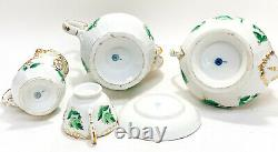 KPM Berlin Porcelain Coffee and Tea Service Set for 8, circa 1850. Hand Painted