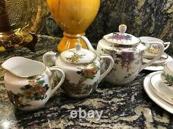 Koshida Tea Set, 4 Delicate Cup/saucer/plate Patterns, Tea Pot, C&s