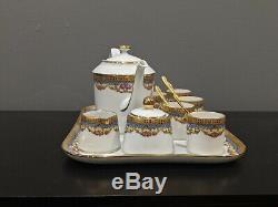 Legrand Lebouc French Antique Limoges Porcelain LEGLE White Tea Set China