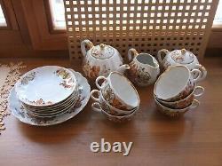 Lomonosov LFZ Tea set Golden grapes 16 pieces made in USSR Soviet Porcelain