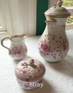 Meissen Porcelain Antique 53 PEICE TEA SET, Indian Rose Coffee Pot QUICK SALE