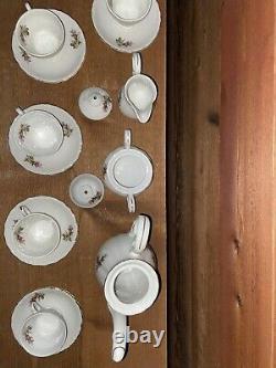 Moss Rose Childs Vintage Porcelain Japanese Tea Set With Gold Detailing