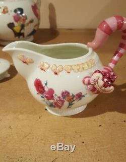 NIB Rare Stunning Disney Alice In Wonderland Porcelain Tea Set by Danbury Mint