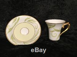 New $2500 BERNARDAUD Limoges Porcelain FRIVOLE Espresso Coffee Tea Dessert Set