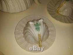 Old or Antique Irish Belleek Porcelain Seashell Tea Set