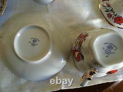 Original Russian Imperial Lomonosov Porcelain Rooster Tea Set With Decanter