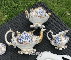 Paris c1840-60 Porcelain Dejeuner / Cabaret Set / Tea For Two