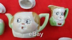 Porcelain Child's Tea Set Doll Face GOOGLY EYES