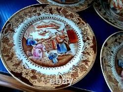 RARE Antique Allerton Porcelain Indiana Tea Set England Collectible more 100year
