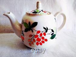 RARE tea set Barberry USSR porcelain factory Proletary. Hand painted