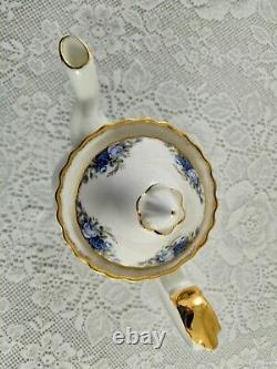 ROYAL ALBERT Moonlight Rose Large Size Coffee/Tea Pot Porcelain England