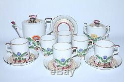 RUSSIAN Imperial Lomonosov Porcelain Tea set Moscow River / Zamoskvorechye 6/14
