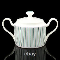 RUSSIAN Imperial Lomonosov Porcelain Tea set Tea Symphony 6/14 Stripes green