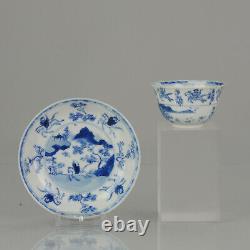 Rare Antique Kangxi Ca 1680-1700 Chinese Porcelain Tea Set'Master of the Rocks