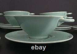 Rare French Art Deco Porcelain Tea Service for Rouard 1930s Tableware