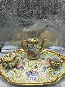 Rare Vintage TK Thun Bohemia Czechoslovakia Tea Set Saucers 18pcs