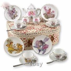 Reutter Porcelain Tea Set In A Case Medium Fairies