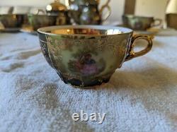 Rieber Bavaria Demitasse Tea Cup Set Porcelain (Teapot, Creamer, Sugar Bowl)