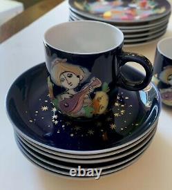 Rosenthal Bjorn Wiinblad 1001 Nights porcelain coffee tea set 21 pc complete