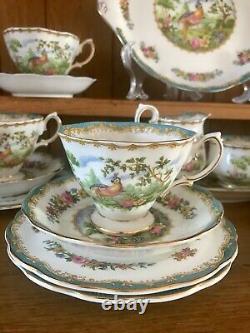 Royal Albert Chelsea Bird Blue 22-Piece Tea Set