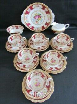 Royal Albert Lady Hamilton 21 Piece Tea Set First Quality Vgc