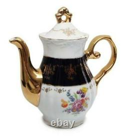 Royalty Porcelain 17-pc Original Blue Cobalt Flower Dining Tea Set for 6