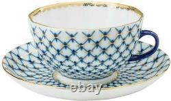Royalty Porcelain 17-pc Tea Cobalt Blue Set For 6, Bone China Porcelain