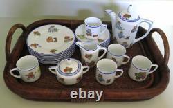 Rudolstadt Happifats Children Porcelain Tea Set Germany Antique Vintage Vintage