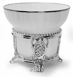 Russian Imperial Lomonosov Porcelain Set Sterling Silver Tea Cup Spoon Maecenas