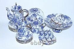 Russian Imperial Lomonosov Porcelain Tea Set Singing Garden 6/22 Russia Gold