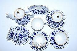 Russian Imperial Lomonosov Porcelain Tea set Bluebells 6/14 service Bells Gold