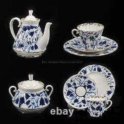 Russian Imperial Lomonosov Porcelain Tea set Bluebells 6/20 service Bells Gold