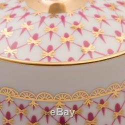 Russian Imperial Lomonosov Porcelain Tea set Net-Blues 20 pc Authentic Original