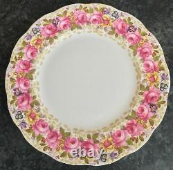 SET of 6 superb 2nds ROYAL ALBERT porcelain SERENA pattern 10&3/8 DINNER PLATES