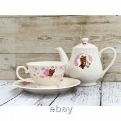 San-X Rilakkuma Tea Set Pot Cup Saucer Sakura Flower Loppi Limited Kawaii Bear