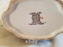 Set -Old Stamps Spode Copeland Indian Tree Teapot & Lid, 2x Tea Cups & Creamer