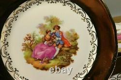Set of 6 Gold Plated Fragonard Dessert Cake Plates BAVARIA Germany for Tea Set A