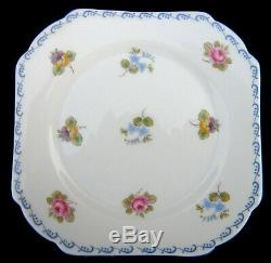 Shelley Pale Blue & White'Rose, Pansy, Forget-me-not Tea Set of 20 pieces